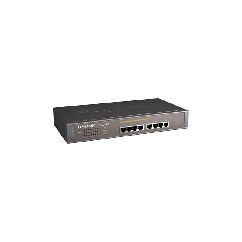 TP-Link TL-SG1008 - 8-port 10/100/1000 Unmanaged Gigabit Rackmount Switch