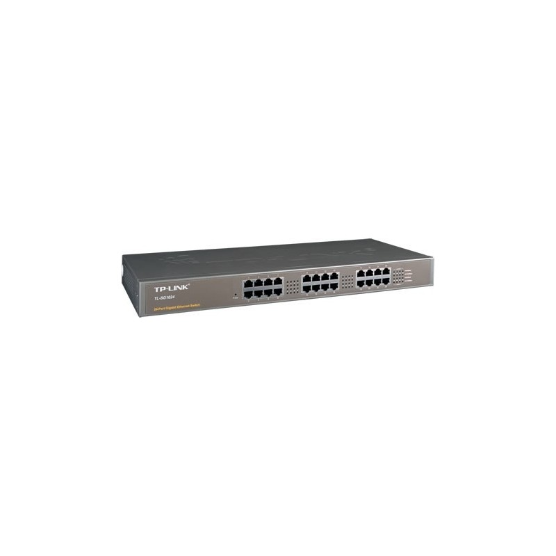 TP-Link TL-SG1024 - 24-port 10/100/1000 Unmanaged Gigabit Rackmount Switch