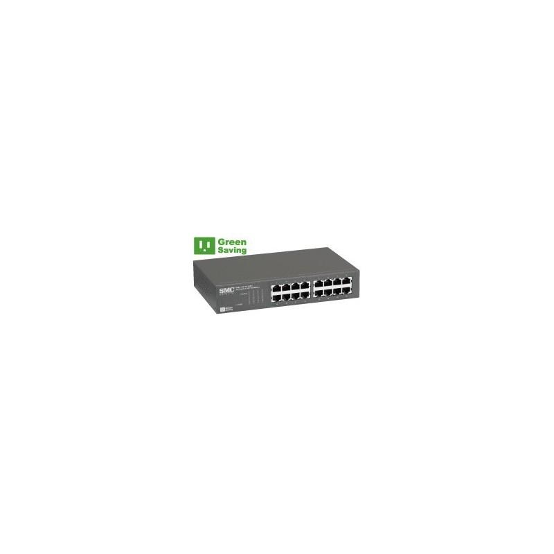 SMC - SMC-EZ1016DT - EZ Switch™ 16 PORT 10/100 UNMANAGED RACKMOUNT SWITCH