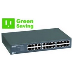 SMC - SMC-EZ1024DT - EZ Switch™ 24 PORT 10/100 UNMANAGED RACKMOUNT SWITCH Home