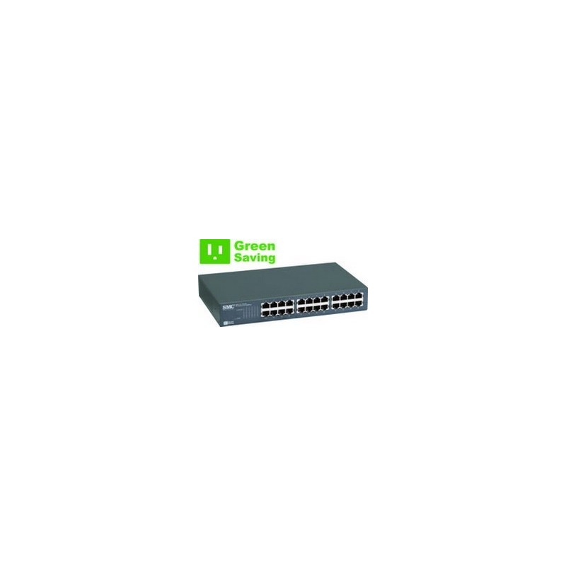 SMC - SMC-EZ1024DT - EZ Switch™ 24 PORT 10/100 UNMANAGED RACKMOUNT SWITCH