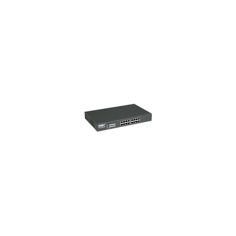 SMC - SMCGS16 - EZ Switch™ 10/100/1000 Standalone 16-port Unmanaged Rackmount Switch Home