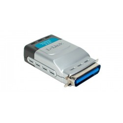 D-Link DP-301P+ - Parallel Port 10/100Mbps Print Server (Support IPP) Home