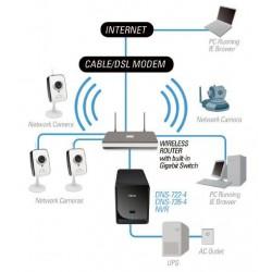 "D-Link D-Link DNS-722-4 - 2-Bay Network Video Recorder (NVR), HDD 3.5"" SATA I/II, 1 Gigabit, 1 USB, Support RAID 0/1/JBoD"