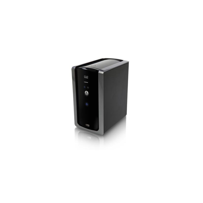 อุปกรณ์จัดเก็บข้อมูล (NAS) Linksys NMH300 - 2-Bay Network Media Hub, 1 Gigabit Port, 2 USB 2.0, RAID 0/1