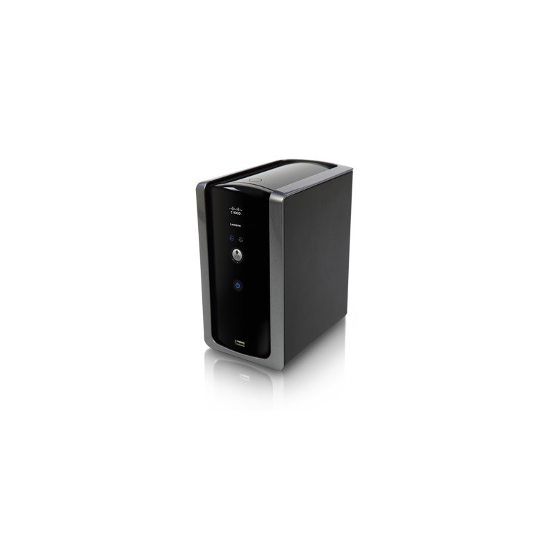 Linksys NMH300 - 2-Bay Network Media Hub, 1 Gigabit Port, 2 USB 2.0, RAID 0/1