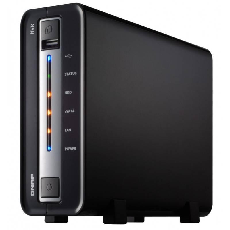 QNAP NVR-104 - Network Video Recorder for IP Cameras, 1-BAY, 1TB SATA I/II, 1 X 10/100/1000Mbps, 2 x USB2.0, 1 x eSATA