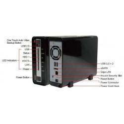 QNAP QNAP NVR-104 NVR for IP Cameras, 1-BAY 1TB SATA I/II, 4 Ch. 1 X 10/100/1000Mbps, 2 x USB2.0, 1 x eSATA