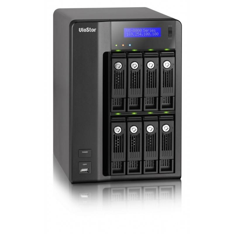QNAP อุปกรณ์จัดเก็บข้อมูล (NAS) QNAP VioStor-8040 - NVR for IP Cameras, 8-BAY, 16TB SATA I/II, 40 Channel, 2 X 10/100/1000Mbp...