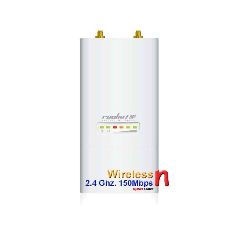 Ubiquiti Rocket M2 Wireless Access Point แบบ ความถี่ 2.4GHz ความเร็ว 150Mbps กำลังส่ง 600mW