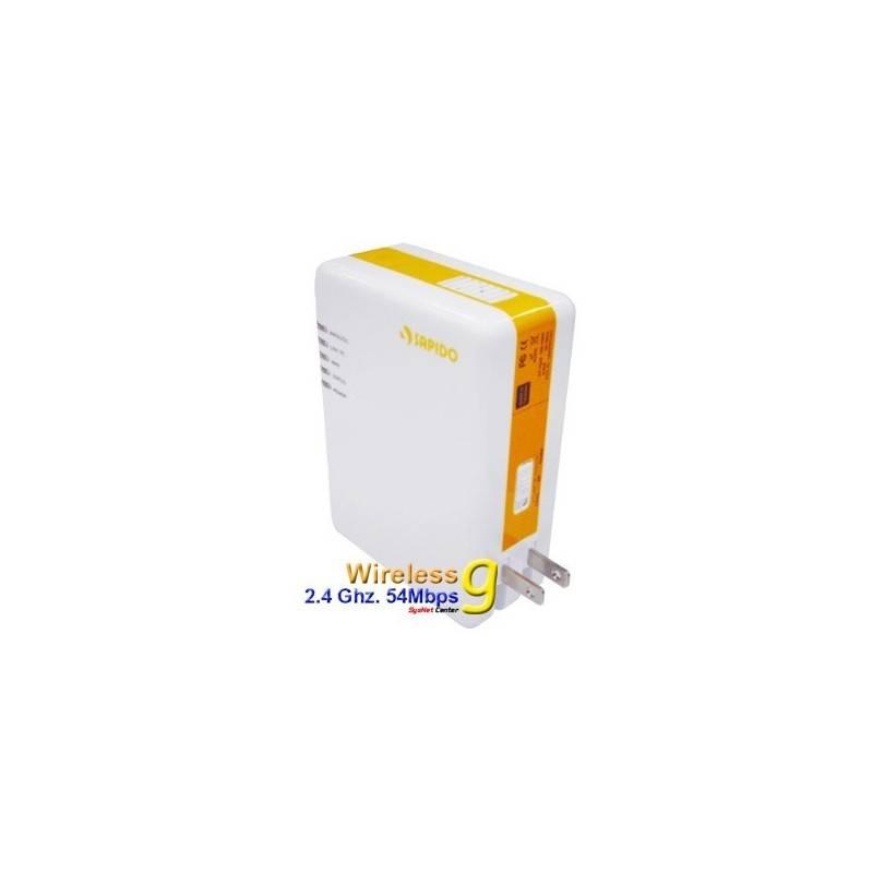 แบบภายในอาคาร SAPIDO PR-1108 WiFi PowerLine Adapter 85Mbps พร้อม Wireless มาตรฐาน 802.11g