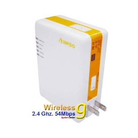 SAPIDO PR-1108 WiFi PowerLine Adapter 85Mbps พร้อม Wireless มาตรฐาน 802.11g