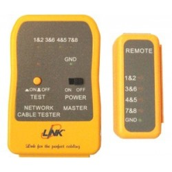 Link อุปกรณ์ Network Accessories Link US-8010 Enhanced UTP Cable Tester (Yellow)
