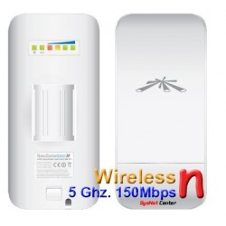 Ubiquiti NanoStation Loco M5 Access Point Outdoor 5GHz 150Mbps พร้อม POE ในชุด