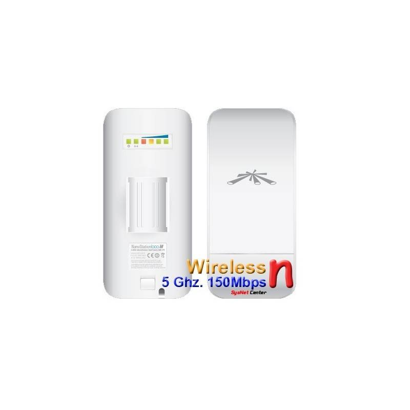 Ubiquiti Wireless AccessPoint (กระจายสัญญาณ Wireless) Ubiquiti NanoStation Loco M5 Access Point Outdoor 5GHz 150Mbps พร้อม PO...