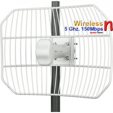 Ubiquiti AirGrid M5 Access Point แบบภายนอกอาคาร ความถี่ 5GHz ความเร็วสูง 100Mbps เสากริด 23dBi พร้อม POE