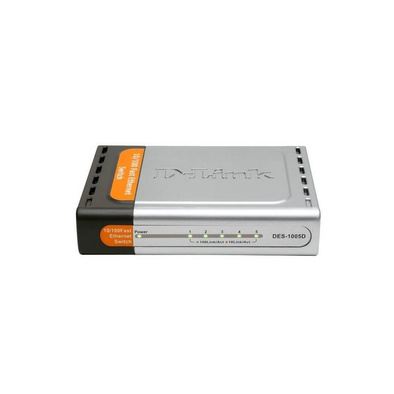 D-Link Unmanaged Switches Switch D-Link DES-1005D Desktop Switch 5 Port ความเร็ว 10/100Mbps