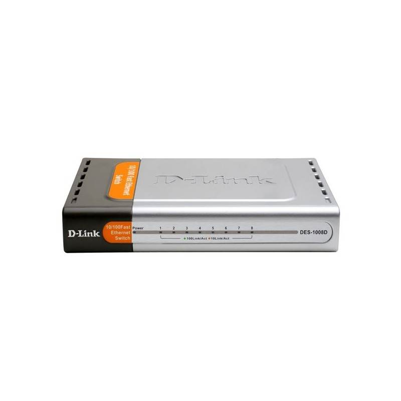 Switch D-Link DES-1008D - Desktop Switch 8-Port ความเร็ว 10/100 Mbps Unmanaged Switches