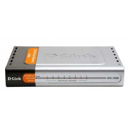 Switch D-Link DES-1008D - Desktop Switch 8-Port  ความเร็ว 10/100 Mbps