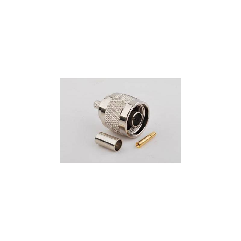 SysNet Center หัวต่อ/ หัวแปลง/ Antenna Connector CON-RPNM : RP-N Type Male Crimp สำหรับ LMR200/RG58U/LLC200