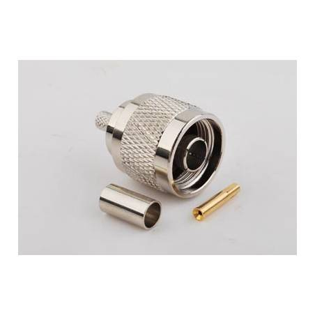 CON-RPNM : RP-N Type Male Crimp สำหรับ LMR200/RG58U/LLC200
