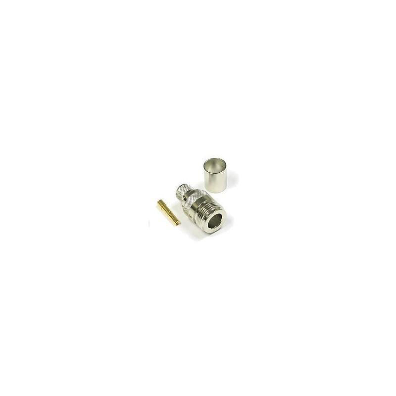 CON-NF : N Type Female Crimp สำหรับ LMR200/RG58U/LLC200 หัวต่อ/ หัวแปลง/ Antenna Connector