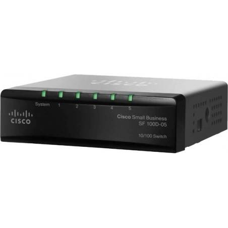 Switch Cisco SF100D-05 (SD205T) Desktop Switch 5 Port ความเร็ว 10/100Mbps