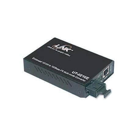 Link UT-0216E Media Converter แปลงสัญญาณจาก RJ-45 เป็นสาย Fiber Optic แบบ MultiMode หัวต่อแบบ SC ระยะทาง 2 กิโลเมตร