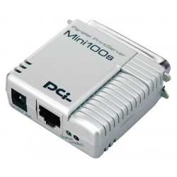 PCI Mini100s Parallel Port 10/100Mbps Print Server Print Server แชร์ Printer ผ่านเครือข่าย
