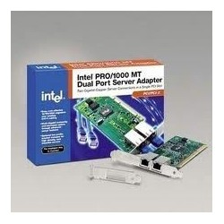 Intel PRO/ 1000 MT Dual Port Server Adapter/ Lan Card แบบ 2 Port ใน 1 Card แบบ PCI/PCI-Xความเร็ว 10/100/1000 Mbps Ethernet Ad...