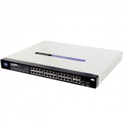 Switch Cisco SRW224G4P-K9 Managed Switch 24 Port 10/100Mbps และ 4 Port Gigabit, 2-Port Mini-GBIC WebView รองรับ POE POE Switch