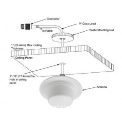 Ceiling Mount แบบ 5 dBi