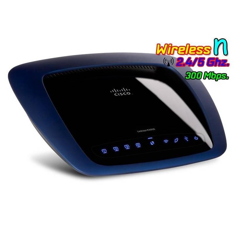 Linksys E3000 Wireless Router ใช้งานย่าน 2.4/5Ghz พร้อมกัน Speed 300Mbps พร้อม Hotspot Authen รองรับ USB Broadband Router