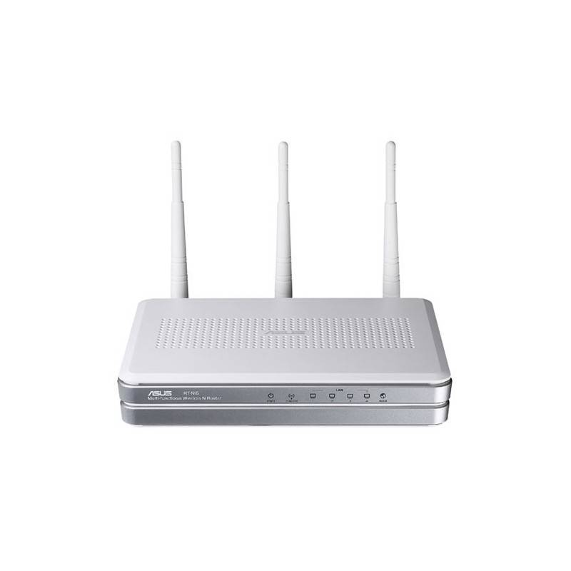 Asus Wireless N Router Asus RTN16 Wireless Router ความเร็ว 300Mbps 4 Port Gigabit พร้อม USB 2.0 รองรับ Thirdparty Firmware