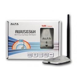 ALFA Network ALFA AWUS036H ตัวรับ Wireless แบบ USB กำลังส่งสูง High Power 1000mW เสา 5dBi