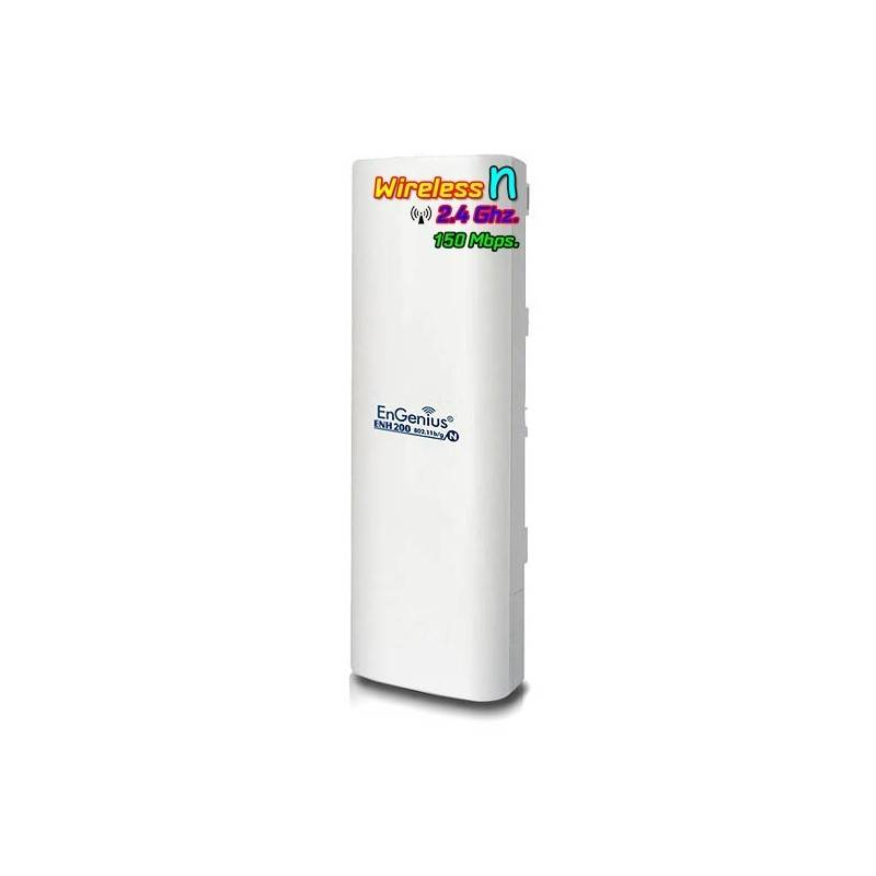 EnGenius Wireless AccessPoint (กระจายสัญญาณ Wireless) Engenius ENH-200 Wireless Access Point แบบภายนอกอาคาร ความถี่ 2.4GHz 15...