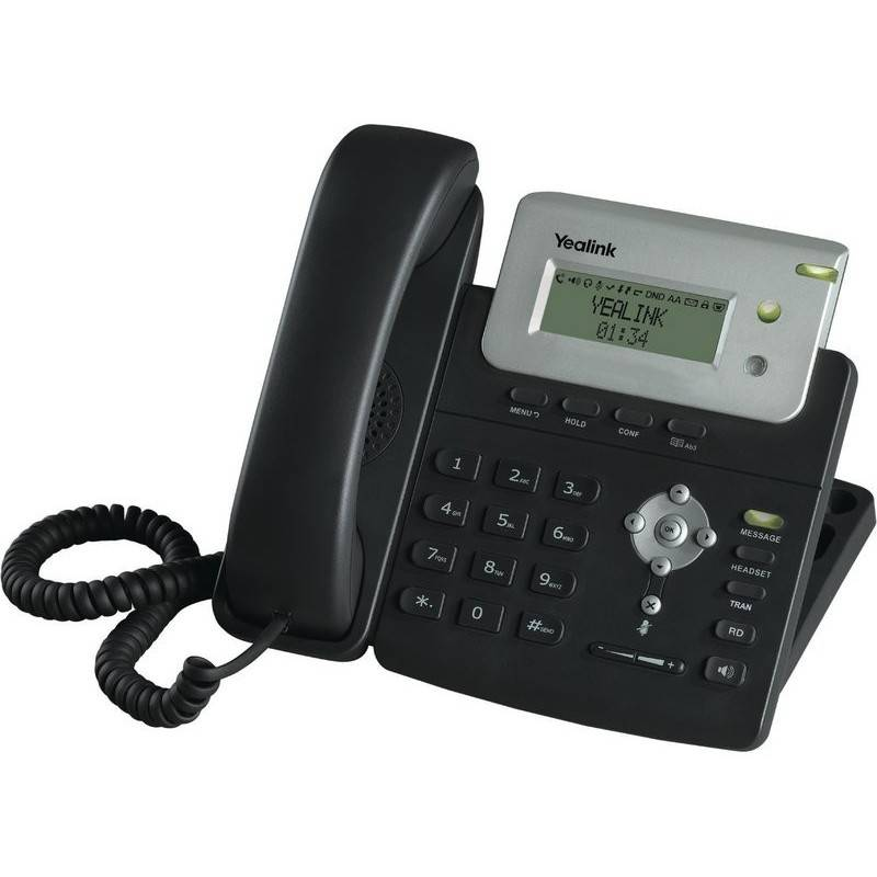 Yealink SIP-T20 อุปกรณ์โทรศัพท์แบบ IP (IP-Phone) รองรับ 2 คู่สาย หรือ 2 SIP Account พร้อม 2 Port Ethernet 10/100 Mbps VOIP / ...