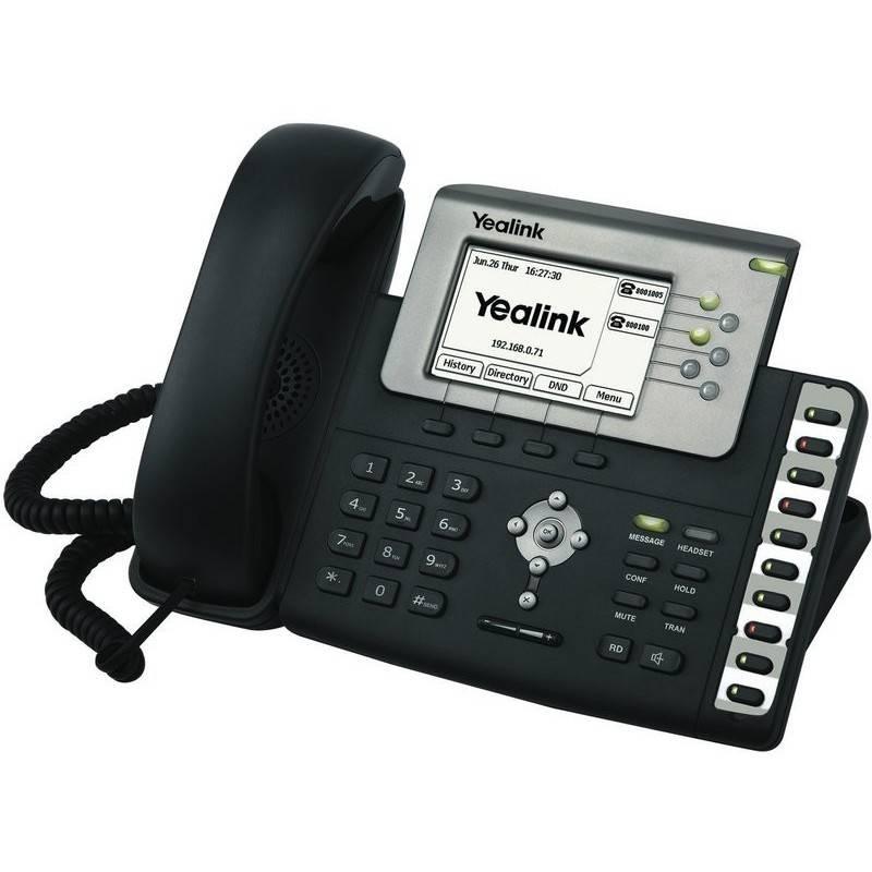 Yealink Yealink SIP-T28P โทรศัพท์แบบ IP (IP-Phone) จอ LCD ขนาดใหญ่ รองรับ 6 SIP Account พร้อม 2 Port 10/100 Mbps รองรับ POE