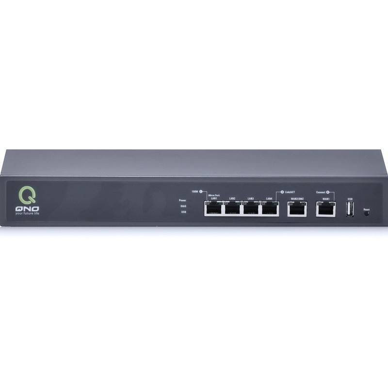 QNO FQR7109 LoadBalance Firewall Router ขนาด 2 Port Wan 4 Port Lan รองรับ NAT 30,000 Sessions LoadBalance/ VPN Router (รวมคู่...