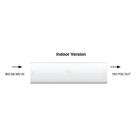 Ubiquiti Instant 802.3af Indoor Adapter อุปกรณ์แปลง POE มาตรฐาน 802.3af เป็น POE 18VDC 0.7A