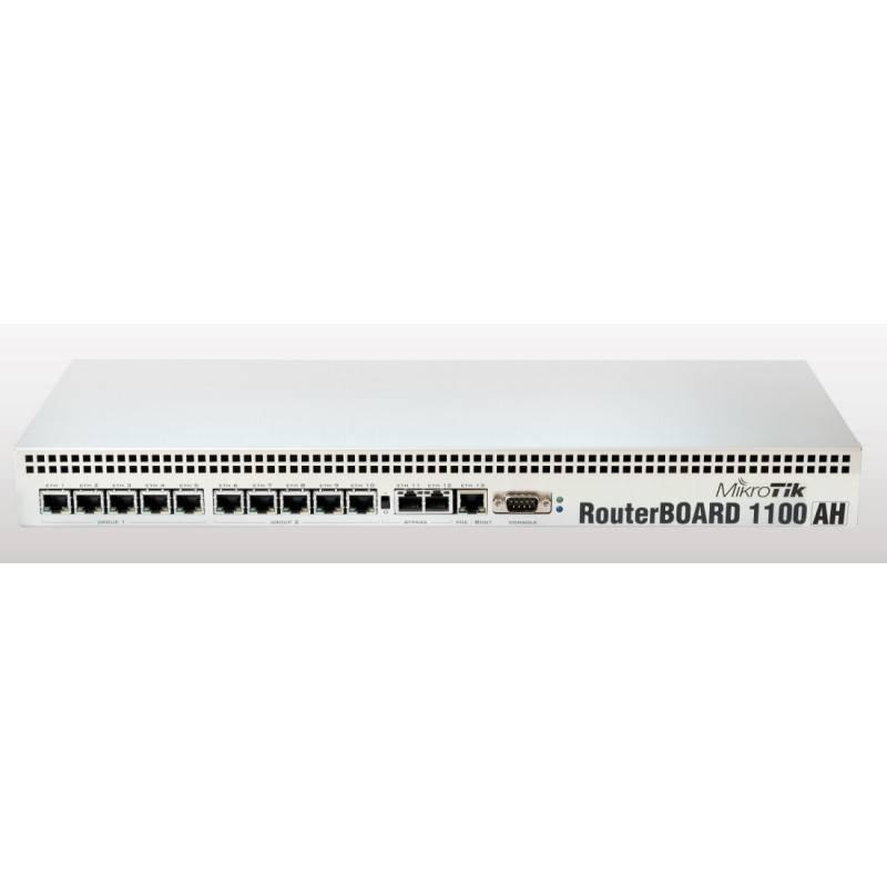 MikroTIK Mikrotik RouterBoard RB-1100AH CPU MPC8533 1066MHz Ram 2GB, 1 Serial Port, License Level 6 Case อลูมิเนียม