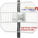 Ubiquiti Wireless AccessPoint (กระจายสัญญาณ Wireless) Ubiquiti AirGrid M5HP AG-HP-5G23 Access Point แบบภายนอกอาคาร ความถี่ 5G...