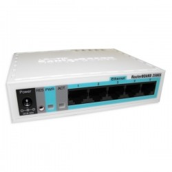 Mikrotik RB250GS Smart Switch 5 Port Gigabit รองรับทำ VLANs, Mirror Traffic และ Bandwidth Limit Switches เชื่อมเครือข่ายแบบสาย