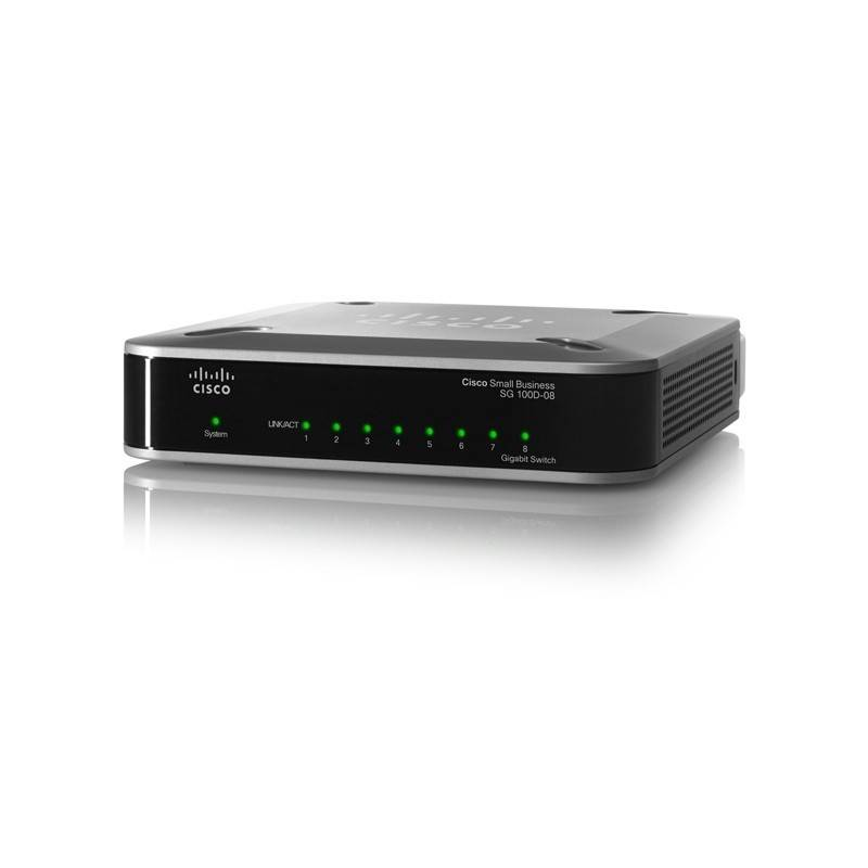 Cisco SG100D-08 - 8 PORT 10/100/1000 GIGABIT SWITCH