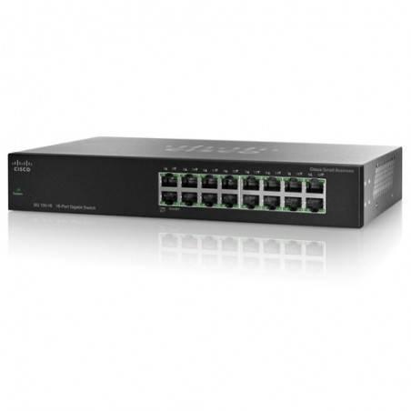 Cisco SG100-16 Gigabit Switch 16 Port ความเร็ว 10/100/1000Mbps