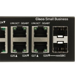 Cisco Cisco SG300-28 (SRW2024) L3-Managed Switch 26 Port Gigabit, 2 Port mini-GBIC รองรับ Static Routing, VLANs ควบคุมผ่าน Web