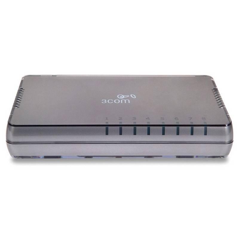 3COM® 3CFSU08A (HP V1405-8G) Gigabit Desktop Switch 8 Ports 10/100/1000Mbps Unmanaged Switches