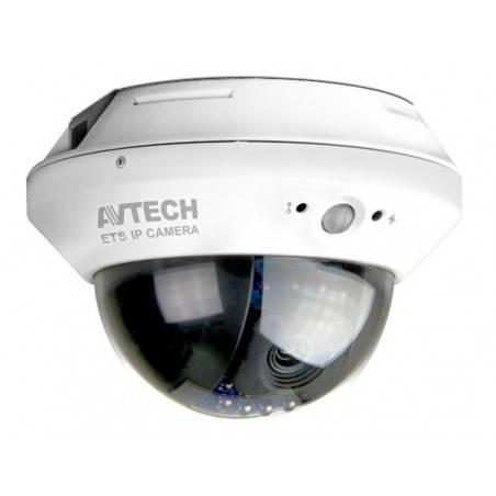 AVTECH AVM328 กล้อง IP Camera แบบใช้สาย ภายในอาคารแบบโดมติดตั้งบนฝ้า ความละเอียด 1.3 MPixels พร้อม IR LED ระยะ 10 เมตร