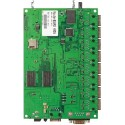 Mikrotik RouterBoard RB493G-Set ขนาด 9 Port Gigabit Ram 256MB, 3 miniPCI, 1 Serial Port, ROS LV5 พร้อม Case