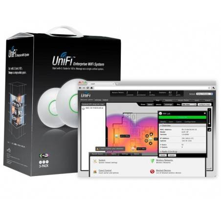 Ubiquiti UniFi LongRange UAP-LR Pack 3 ชุด ราคาประหยัด Access Point ภายในอาคาร 2.4GHz ความเร็ว 300Mbps พร้อม Software Controller